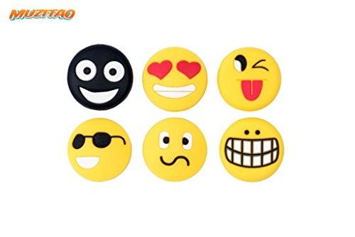 Vibrationsdämpfer für Tennis im 6er Pack (Emojis) -