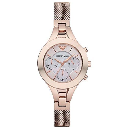 Armani Damen-Armbanduhr Chronograph Quarz Edelstahl beschichtet AR7391