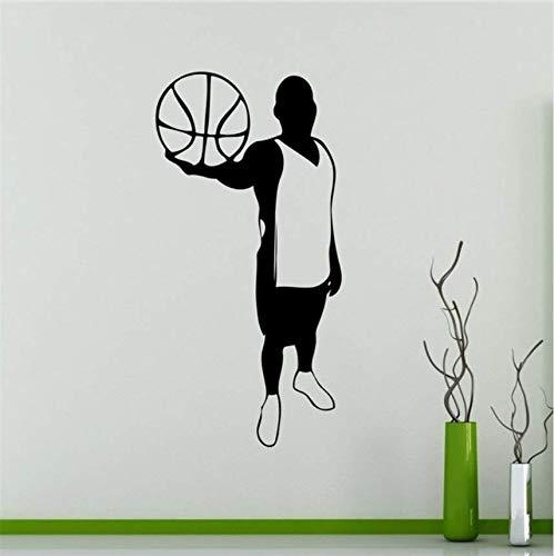 Wand Vinyl Aufkleber Basketball Spieler Silhouette Aufkleber Sport Home Interior Wandbilder Grafiken 90 * 45 ()