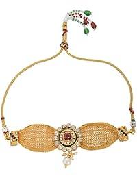 Handicraft Kottage Fashion Jewelry Gold Metal Armory for Women (HK-ABG209)
