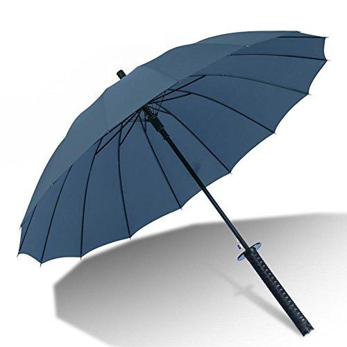 JAYLONG Paraguas de viaje 8 costillas Samurai Sword Shank Construcción de acero inoxidable portátil resistente Secado rápido paraguas impermeable para mujeres, hombres, niños y niños, D