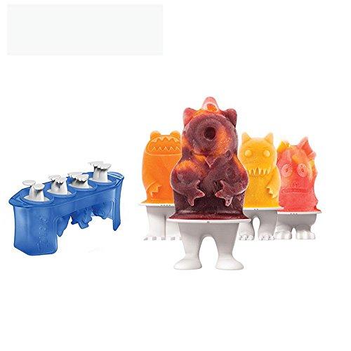 NEWELL DIY Silikon Popsicle Formen Set, Lebensmittelqualität Silikon Popsicle ungiftig Schimmel, Kinder hausgemachte Süße Eis Modell, 002 (Bürste, Et Holzstäbchen)