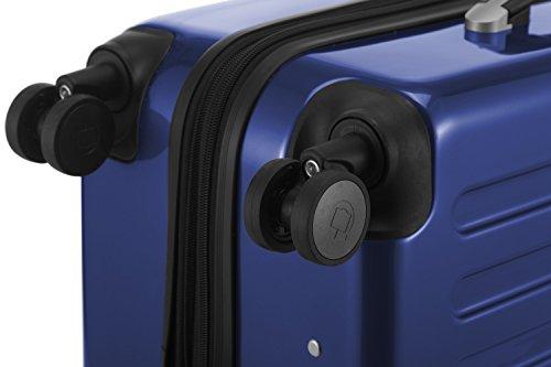 HAUPTSTADTKOFFER - Alex - NEU 4 Doppel-Rollen Hartschalen-Koffer Koffer Trolley Rollkoffer Reisekoffer, TSA, 65 cm, 74 Liter, Dunkelblau - 6