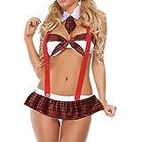 MERICAL Mode Mädchen Cute Sexy Unterwäsche Plus Size Uniformen Versuchung Unterwäsche(Rot,XXL)