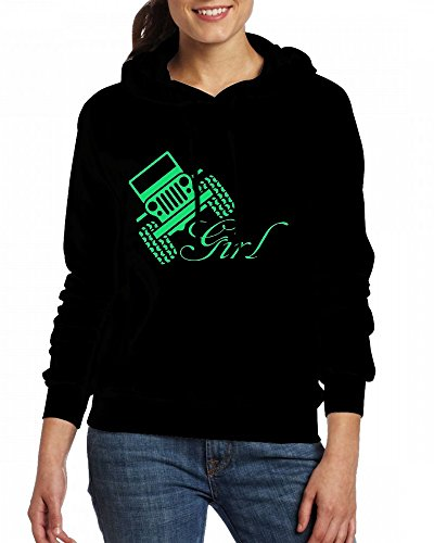 Jeep Girl Womens Hoodie Fleece Custom Sweartshirts Black