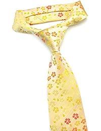 PenSee para hombre corbata JACQUARD tejido de flores de seda corbata–varios colores