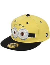 ILU Minions Kid's Snapback Hiphop Cap Yellow and Black Freesize