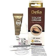 KIT Tinte para pestañas y cejas profesionales, color Marron/Marron Oscuro/Negro 15ml (Marron)