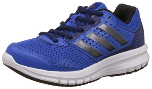 adidas Unisex Duramo 7 K Blue, Black and Dark Blue Mesh Sneakers  - 1 UK/India (33 EU)