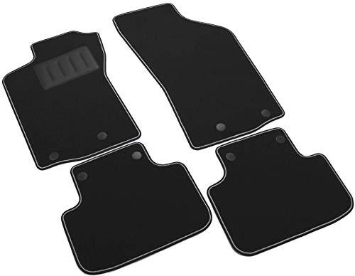 Il Tappeto Auto - Auto-Fußmatten-Set Sprint00100, Rutschfest, Farbe: schwarz, zweifarbiger Rand, Absatzschoner aus Gummi gefertigt, passgenau für folgendes Fahrzeugmodell: Alfa Romeo 147.