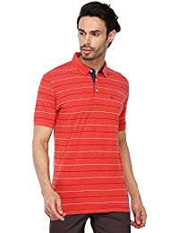 Stop by Shoppers Stop Mens Stripe Polo T-Shirt