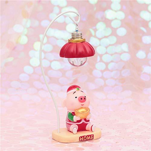 Chinesischen stil neue jahr schwein led lampen haus sanduhr tragbare laterne schreibtisch nachtlicht handgemachte hängende korb beleuchtung