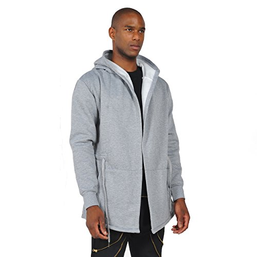 ... Pizoff Herren Hip Hop High Street Fashion Lang geschnittenes Trägershirt  , , Y1139-Gray ...