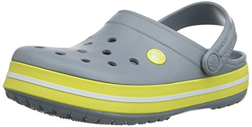Crocs Crocband Sabot U, Ciabatte Unisex Adulto Grigio (Concrete/Chartreuse)