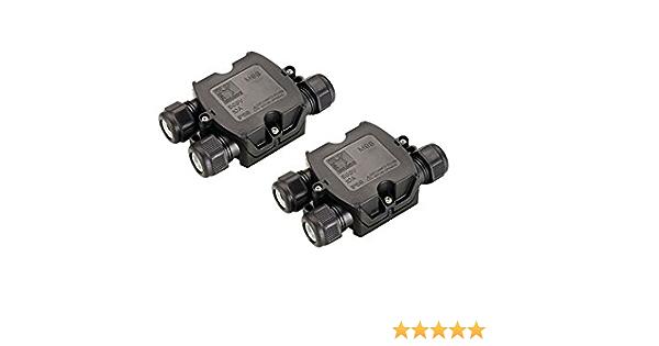 10x Wasserdicht 3-fach Kabelverbinder Dosenmuffe Verbindungsbox Erdkabel Box Set