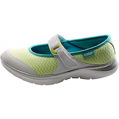 Easy Spirit e360 Mariel Femmes Large Synthétique Mary Janes WhiMu-Wh