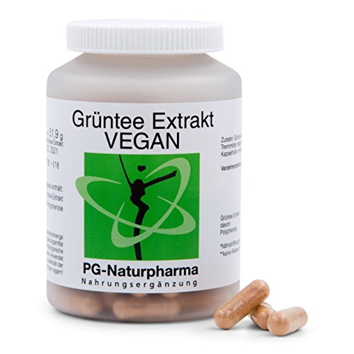 Grüntee Extrakt vegan, Grüntee Kapseln, Grüner Tee, Grüntee-Extrakt mit 95% Polyphenolen, hergestellt in Deutschland, 120 Kapseln, 2 Monatsvorrat