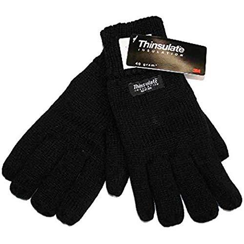 Thinsulate - Herren 3M Winter Handschuhe Thermo Futter - Schwarz, L / XL