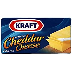 Kraft Processed Cheddar Cheese, 250g