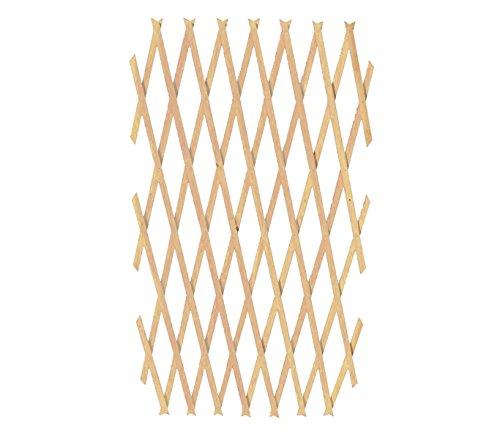 Mediawave Store Traliccio in Legno grigliato Estensibile 434037 da 180x90 cm Welkhome per Piante