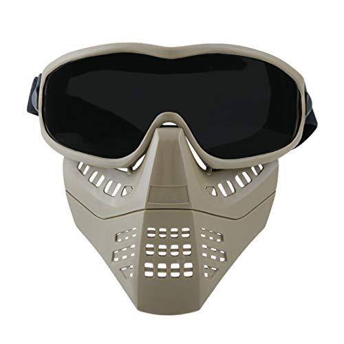 MAJOZ Schutzmaske,Airsoft Cool Maske Gasmaske Lüfter für Motorrad/ Cosplay/ Schutz /Zombie Soldaten/ Halloween Masqürade /Resident Evil Antivirus/ Schädel CS Mask
