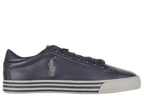 Polo Ralph Lauren chaussures baskets sneakers homme en cuir harvey blu