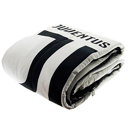 F.C. Juventus Juventus Steppdecke Official Logo Neue für Einzelmatratze ajuvetr1p, 2120_1-168, Mehrfarbig, 2120_1-168
