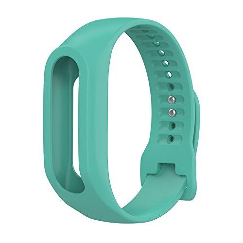 TomTom Touch Uhrenarmband, Silikon Ersatzband für TomTom Touch Cardio Activity Tracker Sport GPS Fitness Tracker Strap grasgrün