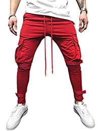 5f3afe401f496 Men's Slim Fit Cotton Joggers, Men's Skinny Fit Casual Trousers, Sport Pants  for Men for Gym,Ohwensee Men Joggers Pants Athletic…