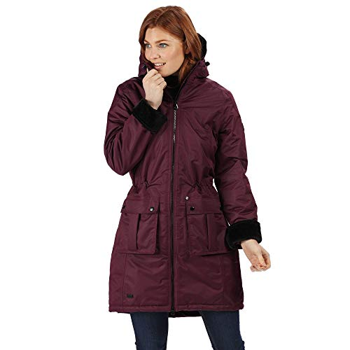 This hooded jacket is affordable and proves to have won the hearts of many from the plenty of positive reviews that it has on various online stores. It goes with any weather thanks to Regatta's waterproof and breathable fabric as well as 'technical insulation'. Taped seams, luxurious faux fur lining, 2 lower patch pockets and handwarmer pockets complete what is the ladies' best coat for dog walking.
