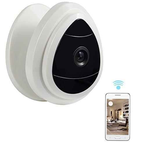 NexGadget Wireless Mini IP Kamera, WiFi Sicherheit IP-Kamera-Ausgangsüberwachungssystem Baby-Haustier-Monitor, Netzwerk Kamera mit One Way Audio Tags-Sicht nur, Bewegungserkennung Einfache Einrichtung : Plug & Play,Sonic Transf