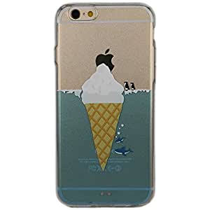 Cover iPhone 5/5S/SE, TrendyBox Cute Case Cover per iPhone 5 5S SE con Vetro Temperato Pellicola Protettiva (Pinguino Squalo e Gelato)