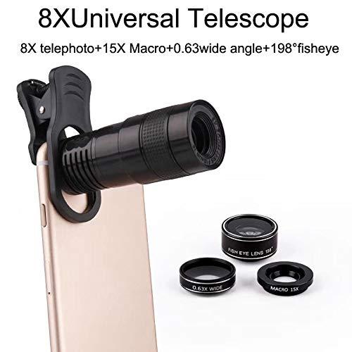SJSXTLLL Universal Clip 8X Zoom Teléfono Celular