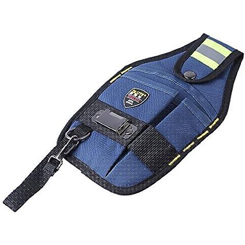 3-Pocket cintura de electricista herramienta de bolsillo cinturón trabajo W/cinta hebilla cómodo soporte para bolsa de herramientas destornillador llave funda de transporte