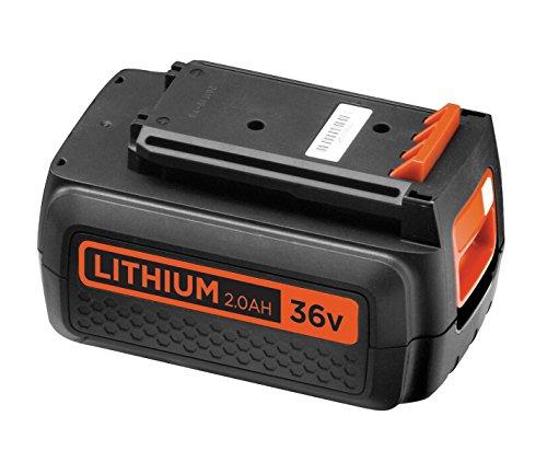 Preisvergleich Produktbild Black+Decker 36V 2.0Ah Li-Ion Ersatzakku kompatibel mit allen Black+Decker 36V-Geräten mit Ladezustandsanzeige, BL20362, schwarz orange