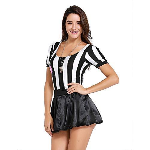 Kostüm Sexy Schiedsrichter - ZQ Schiedsrichter-Frauen-Halloween-Kostüm Sexy Sports Ref. Ump Rock Outfit