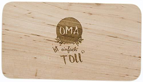 Meinbecher tagliere in legno erle, oma è fantastico, per la festa della mamma, regalo per nonna