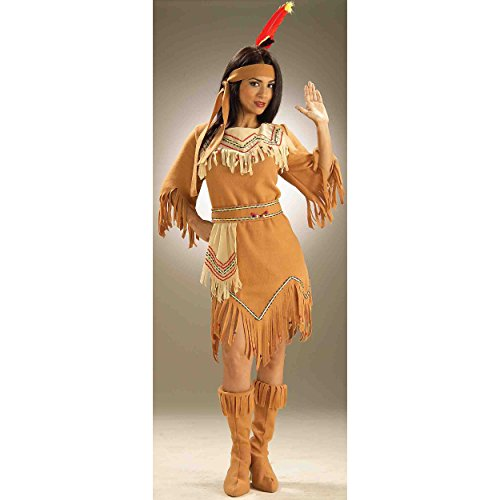 Native American Damen Kostüm Pocahontas Sacajawea Indian Maiden (Pocahontas Indian Kostüme)