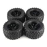 4 piezas de neumáticos de llanta de 130 mm para 1/10 Monster Truck Racing RC Accesorios para automóviles