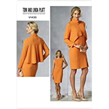 Vogue Patterns V1435E5 - Patrones de Costura para Conjunto de Chaqueta y pantalón de Mujer (