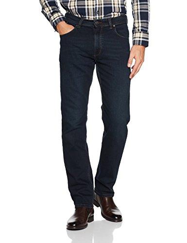 bugatti Herren Straight Leg Jeanshose 3280D R-16640 Gr. W34/L34 (Herstellergröße: 34/34) Blau (Dunkelblau 293) (Leg Five-pocket Jeans Straight)