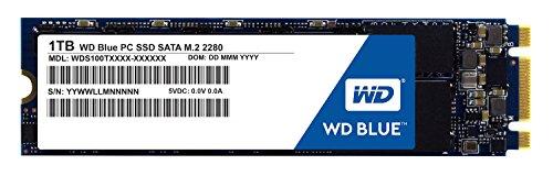 WD Blue SSD SATA M2, 1 TB Festplatte von Western Digital. Kompatibel mit vielen Laptops. Optimiert für Multitasking und ressourcenintensive Anwendungen. WDS100T1B0A