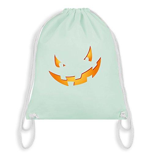 esicht klein Pumpkin - Unisize - Pastell Grün - WM110 - Turnbeutel I Gym Bag (Nicht Böse Halloween Kostüme)