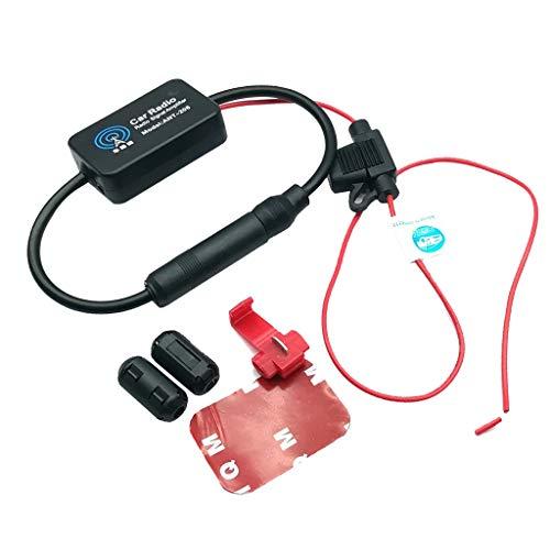 Auto Automobil Arial Radio AM / FM-Signal 12V Antennenverstärker Booster für Fahrzeug KFZ Radio Autoradio ()