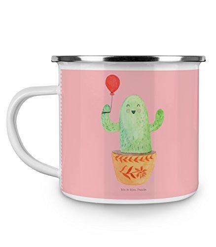 Kaffeebecher Stress (Mr. & Mrs. Panda Emaille Tasse Kaktus Luftballon - 100% handmade in Norddeutschland - Freude, Kaffeebecher, Stress, Kakteen, Freundin, Büroalltag, Freund, Ausbildung, Tasse, Camping, , Becher)