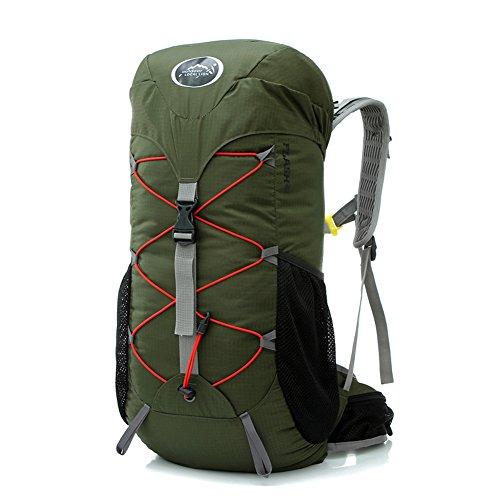 Diamond Candy Zaino da Trekking Outdoor Donna e Uomo con Protezione Impermeabile per alpinismo arrampicata equitazione ad Alta Capacitš€ borsa da viaggio,Multifunzione, 35 litri Militare Verde