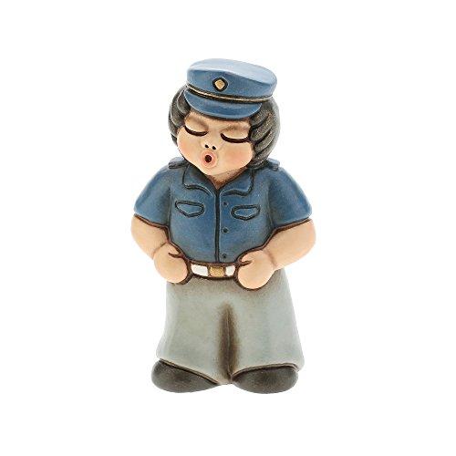 Thun f2329h90b bimbo poliziotto, ceramica, multicolore, 6.2 x 5.5 x 8.6 cm