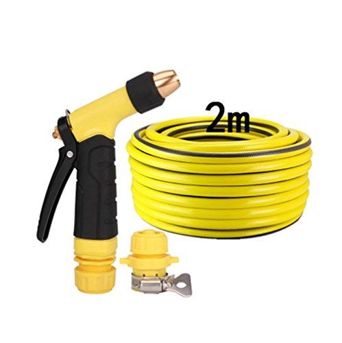 RUIX Flexibler Gartenschlauch Autowaschwasserpistole Hochdruck Bewässerungsartefakt-Autospritzpistole,2M
