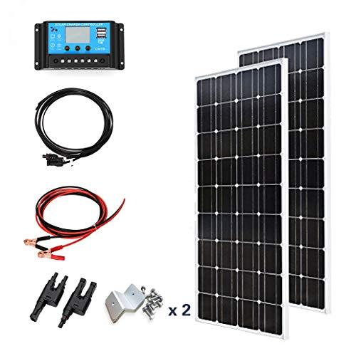 Especificación: 1. Panel Solar Meterial: silicio monocristalino. Potencia máxima (Pmax): 100W Tensión de alimentación máxima (VMP): 18V Voltaje de circuito abierto: 21.6 V Corriente máxima de suministro (Imp): 5.55A Corriente de cortocircuito: 6.06 A...