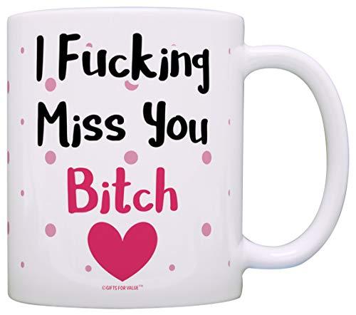 ca1ffc2322d Funny Bitch Mug Expletive I Miss You Bitch Coworker Best Friend Gift Coffee Mug  Tea Cup
